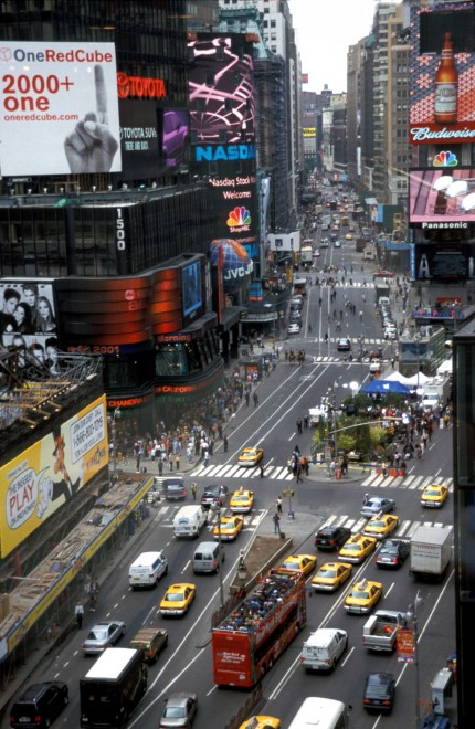 NYC Times Square at Broadway Before Placemaking, Image Courtesy of PPS