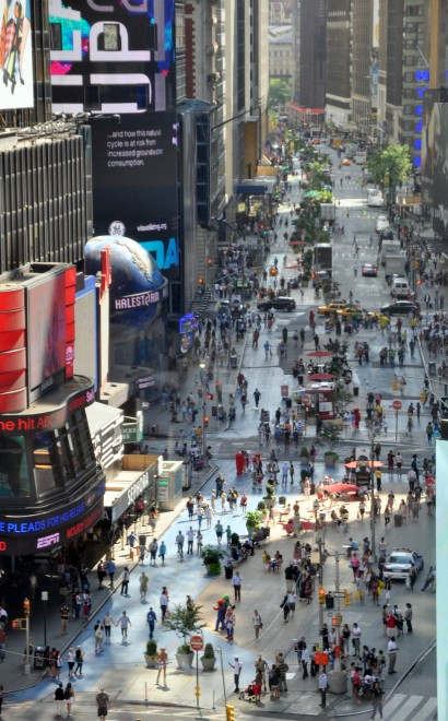 NYC Times Square at Broadway After Placemaking, Image Courtesy of PPS