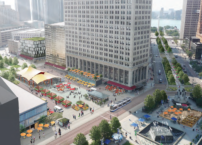 Detroit's Cadillac Square, Image Courtesy of PPS