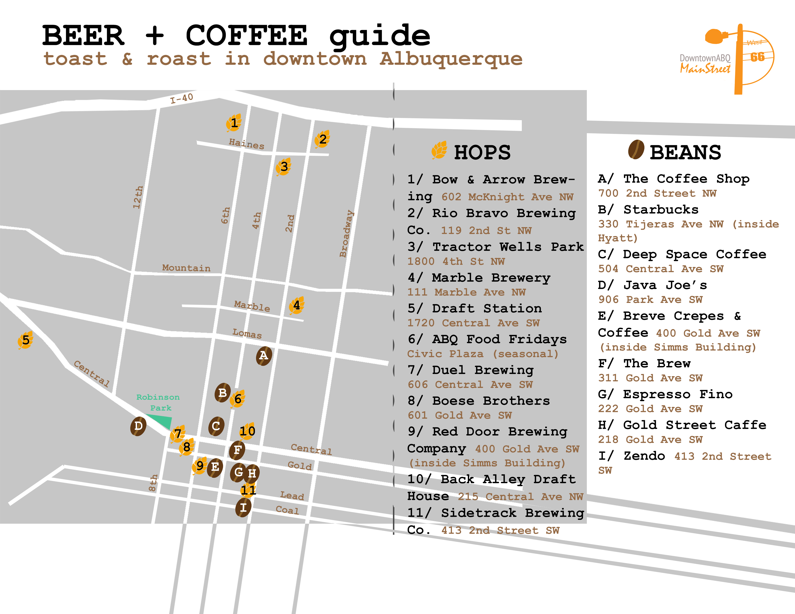 NEW Coffee + Brew Map Available!