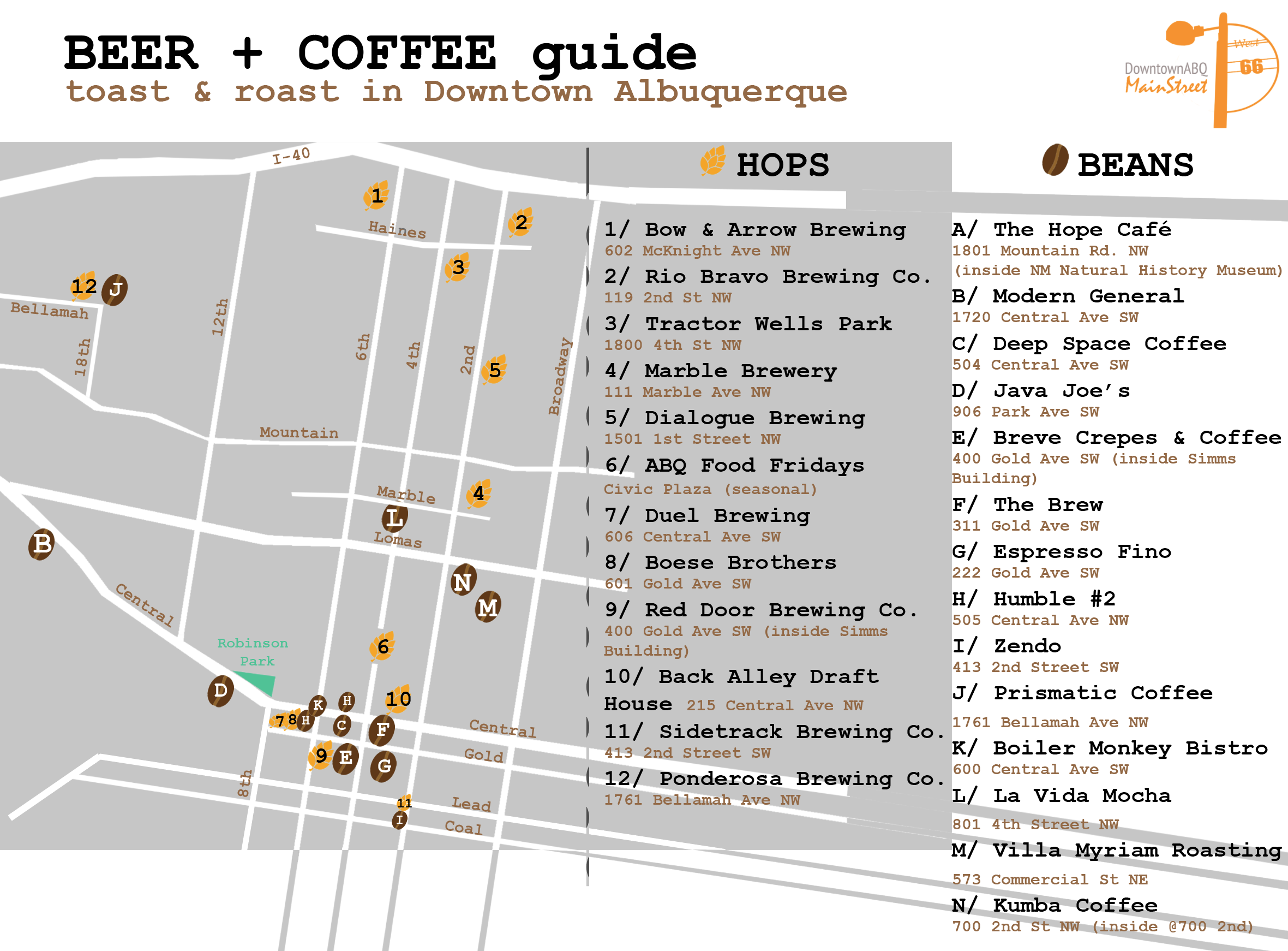Coffee + Brew Map Available!